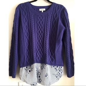 NWT Monteau cable knit sweater